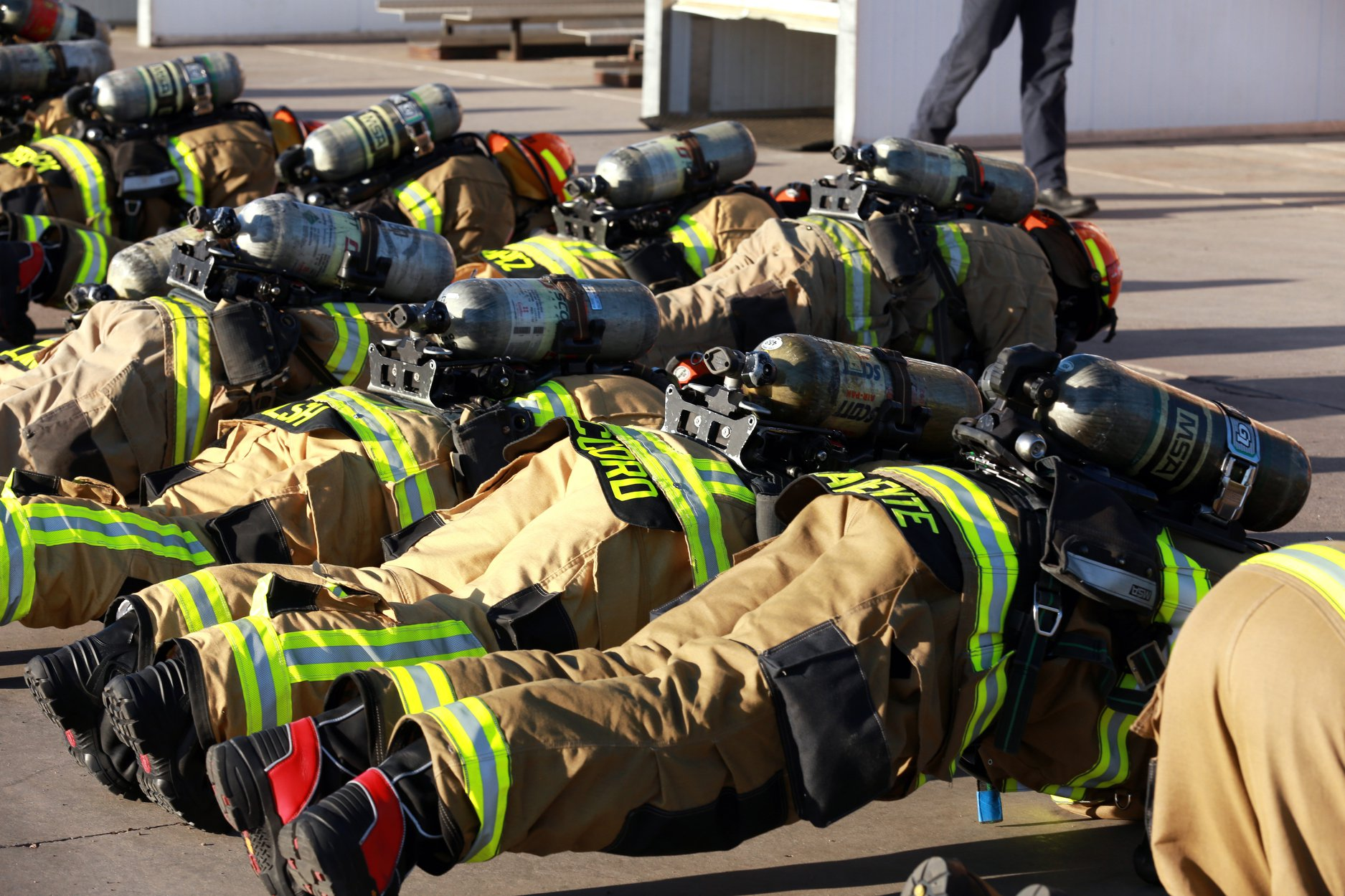 Fire Recruit Push ups