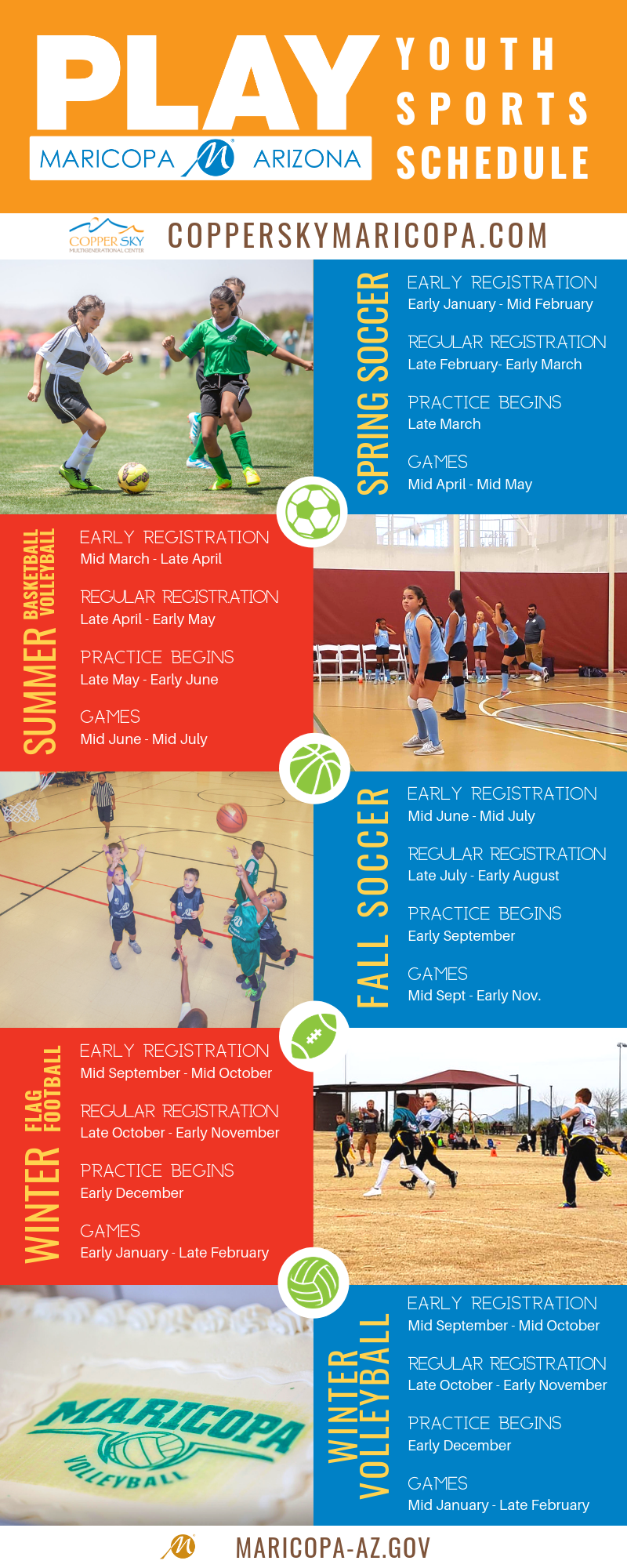 PLAY Youth Sports Schedule