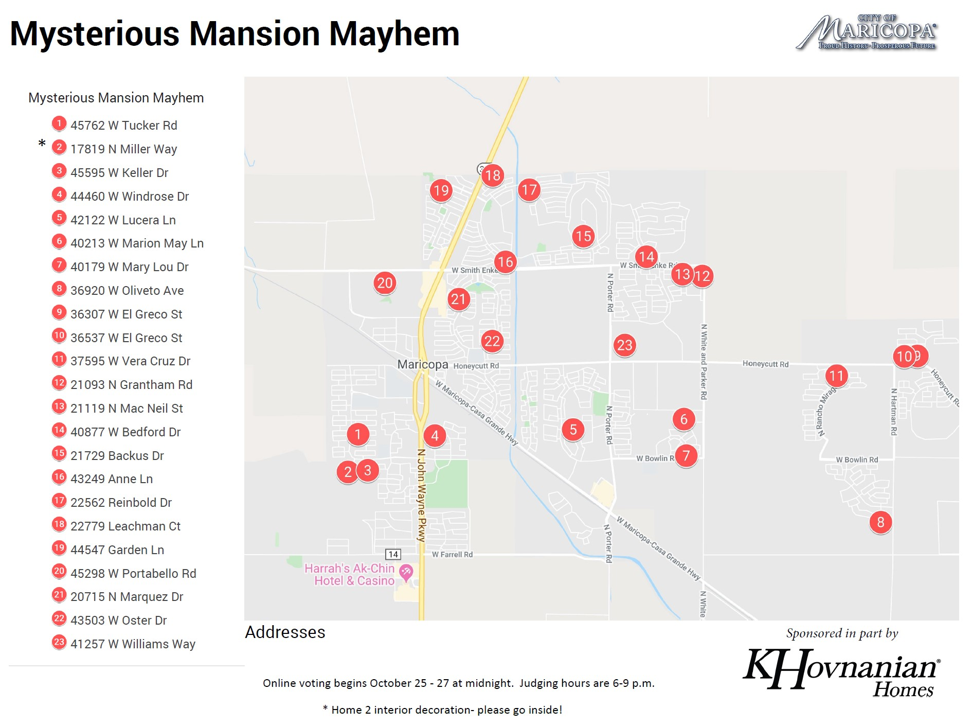 Mysterious Mansion Mayhem Map is Here! | Maricopa eNews ...