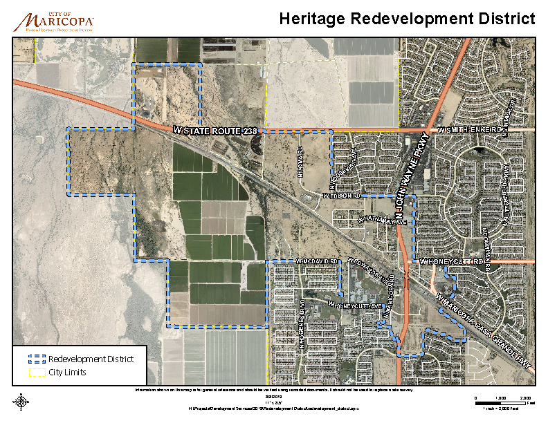 Heritage Redevelopment District Map